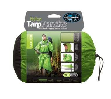 Nylon Tarp Poncho green