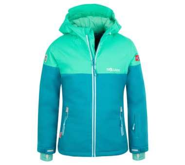 Girls Hallingdal Jacket light petrol/dark mint/white   164