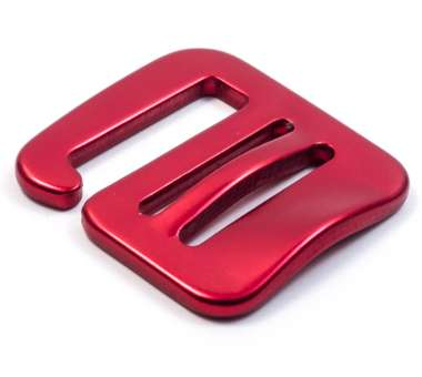 G-Buckle Gurthaken Aluminium rot | 25 mm