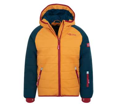 Kids Hafjell Snow Jacket PRO mystic blue/golden yellow/rusty red | 116