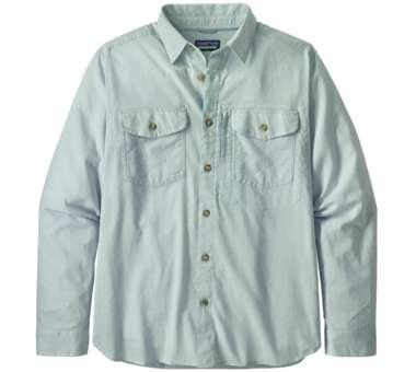 Men's LS Cayo Largo II Shirt chambray: big sky blue | S