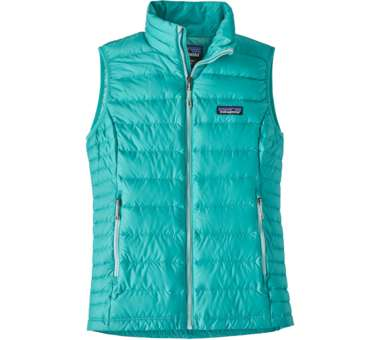 Down Sweater Vest Women strait blue   M