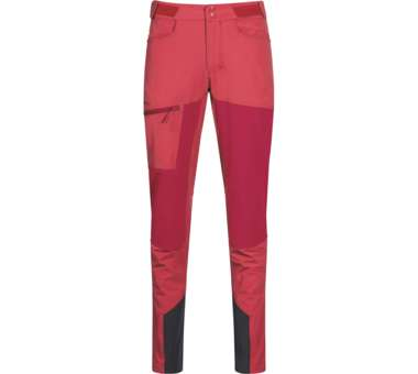 Cecilie Mountain Softshell Pants Women light dahlia red/dahlia red   S