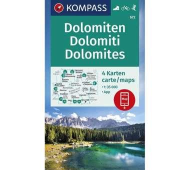 Wanderkarten Set Dolomiten