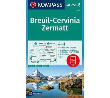 Wanderkarte Breuil-Cervinia, Zermatt