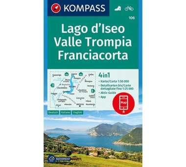 Wanderkarte Lago d'Iseo, Valle Trompia, Franciacorta
