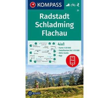 Wanderkarte Radstadt, Schladming, Flachau