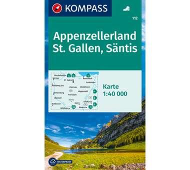 Wanderkarte Appenzellerland, St. Gallen, Säntis