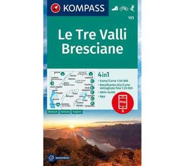 Wanderkarte Le Tre Valli Bresciane