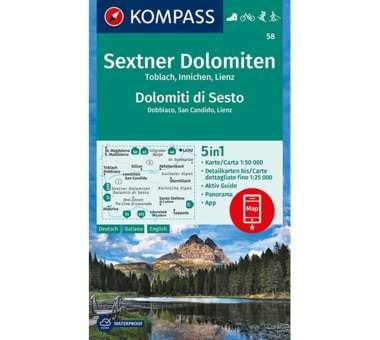 Wanderkarte Sextner Dolomiten