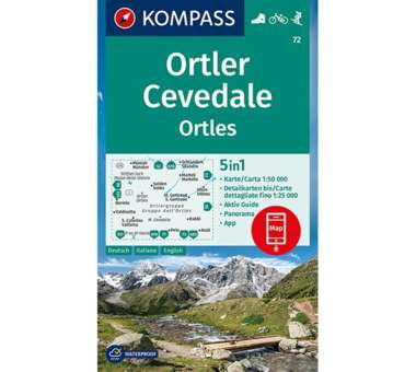 Wanderkarte Ortler/Ortles, Cevedale