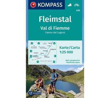 Wanderkarte Fleimstal, Val di Fiemme