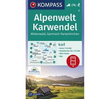 Wanderkarte Karwendel Mittenwald, Garmisch