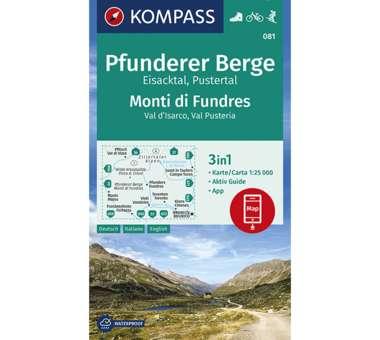 Wanderkarte Pfunderer Berge, Eisacktal, Pustertal