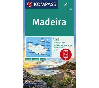 Wanderkarte Madeira
