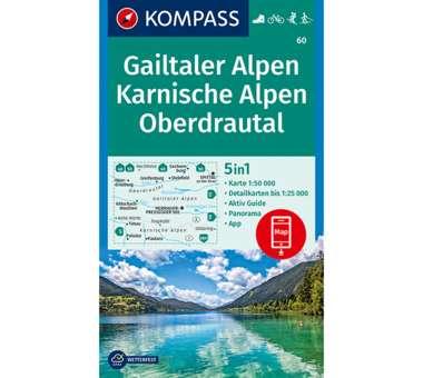 Wanderkarte Gailtaler Alpen, Karnische Alpen, Oberdrautal
