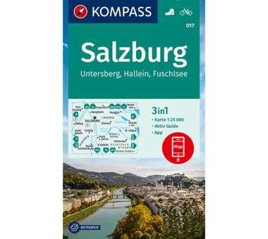 Wanderkarte Salzburg, Untersberg, Hallein, Fuschlsee