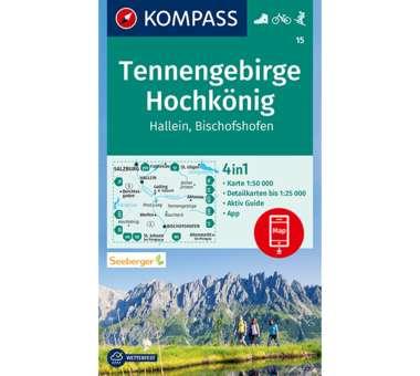 Wanderkarte Tennengebirge, Hochkönig