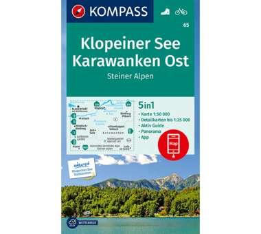 Wanderkarte Klopeiner See, Karawanken Ost, Steiner Alpen