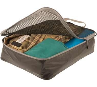 Travelling Light Garment Mesh Bag black/grey   small