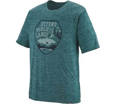 Capilene Cool Daily Graphic Shirt piki green   S