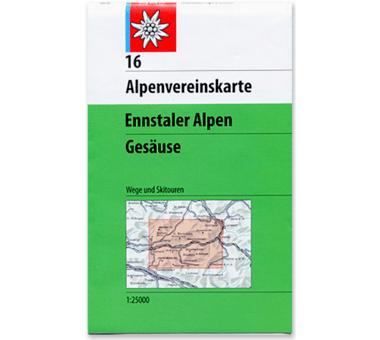 AV-Karte 16 - Ennstaler Alpen-Gesäuse