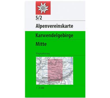 AV-Karte 5/2 Karwendelgebirge, Mitte