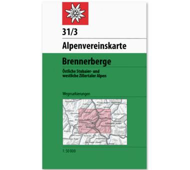 AV-Karte 31/3 - Stubaier Alpen, Brennerberg