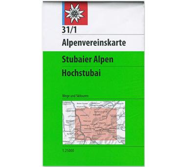 AV-Karte 31/1 - Stubaier Alpen, Hochstubai