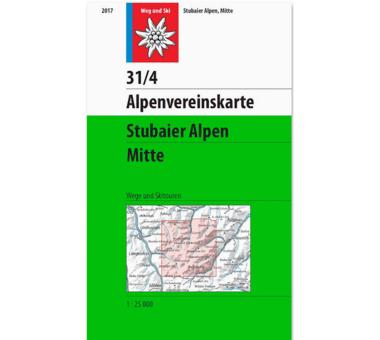 AV-Karte 31/4 - Stubaier Alpen Mitte
