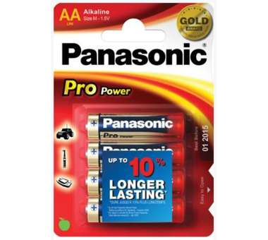 Batterie Panasonic Alkali AA 4 Pack