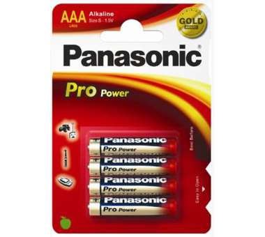 Batterie Panasonic Alkali AAA 4 Pack