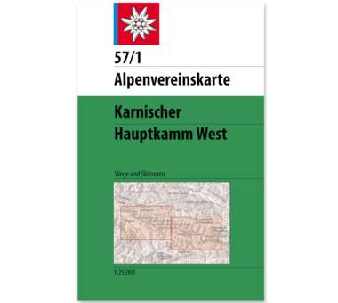 AV Karte 57/1 - Karnischer Hauptkamm, West