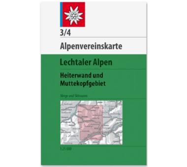 AV-Karte 3/4 Lechtaler Alpen, Heiterwand