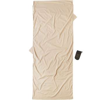 Travelsheet ägyptische Baumwolle Insect Shield sand