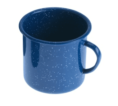 Emaille Tasse blau | 350 ml