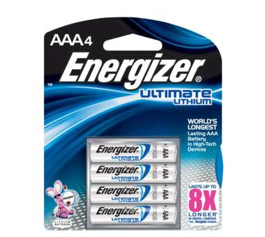 Ultimate Lithium Batterien AAA 4er