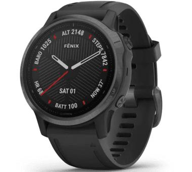 Fenix 6S Sapphire schwarzes DLC mit schwarzem Armband