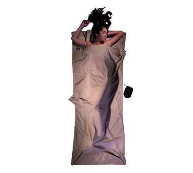 Inlett Decke ägyptische Baumwolle khaki
