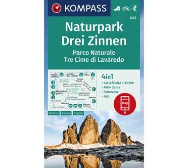 Wanderkarte Naturpark Drei Zinnen