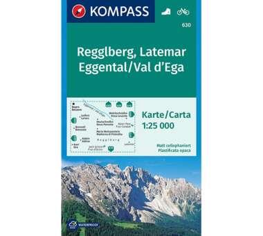 Wanderkarte Regglberg, Latemar, Eggental