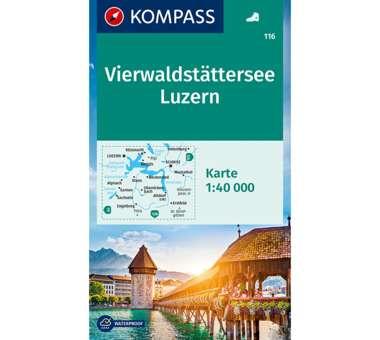 Wanderkarte Vierwaldstätter See - Luzern