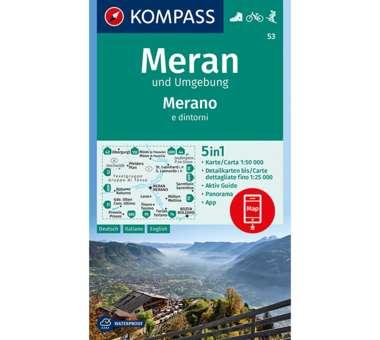 Wanderkarte Meran und Umgebung