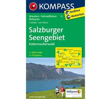 Wanderkarte Salzburger Seengebiet
