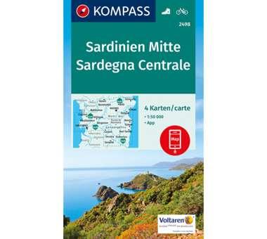 Wanderkarte Sardinien Mitte