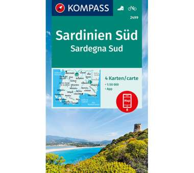 Wanderkarte Sardinien Süd - 4 Karten-Set