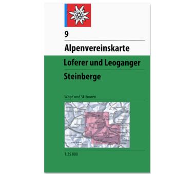AV-Karte 9 - Loferer und Leoganger Steinberge