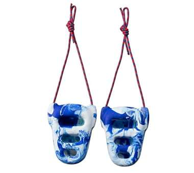 Rock Rings 3D white/blue swirl