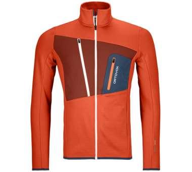 Fleece Grid Jacket Men desert orange   S