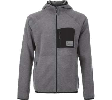 Men's Out of Border Hoodie Jacket heather stone   S